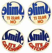 Buy ⭐Vintage Labatt Stickers Decals Smile Pass it On It's Catching Labatt's Labatts⭐