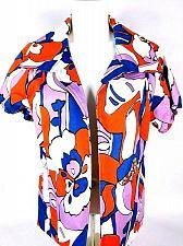 Buy WDNY Women's Jacket Short Sleeve Blue Orange Purple White Size 10