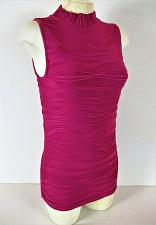 Buy THE LIMITED womens Small sleeveless pink TEXTURED stretch top (C3)