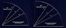 "Buy Quarter Circles-2 Piece Set 16"" & 18""- 1/4"" Clear Acrylic"
