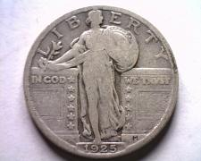 Buy 1925 STANDING LIBERTY QUARTER FINE F NICE ORIGINAL COIN BOBS COINS FAST SHIPMENT