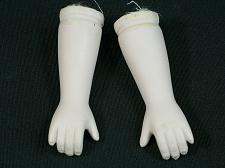 """Buy Vintage Bisque Porcelain Doll Arms and Hands 3"""" Overall Flange Style"""