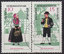 Buy GERMANY DDR [1966] MiNr 1214 WZd166 ( OO/used ) Trachten