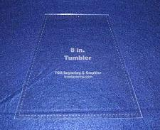"Buy 8"" Tumbler Quilt Template - With Seam Allowance -Clear 1/8"" Acrylic"