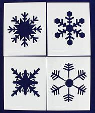 """Buy Large Snowflake 4 Piece Stencil Set 14 Mil 8"""" X 10"""" Painting /Crafts/ Templates"""