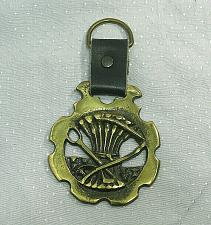 Buy Vintage Horse Brass Harness Medallion Ornament Leather Strap Sheaf Wheat Stack