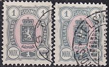 Buy FINLAND SOUMI [1889] MiNr 0032 A a,b ( O/used )