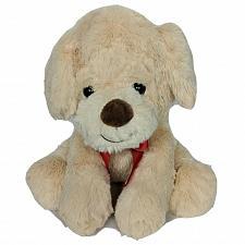 "Buy Walgreens Christmas Tan Puppy Dog Plush with Bow Stuffed Animal 11"""