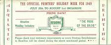 Buy Vintage Ink Blotter Hamilton International Printers Designers Ontario Canada