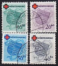 Buy GERMANY Alliiert Franz. Zone [Württemberg] MiNr 0040-43 A ( O/used ) [01] geprü