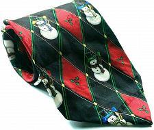 Buy Hallmark Yuletide Greetings Christmas Holiday Snowman Silk Necktie