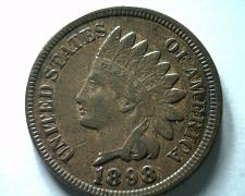 Buy 1898 INDIAN CENT PENNY ABOUT UNCIRCULATED+ AU+ NICE ORIGINAL COIN FROM BOBS COIN