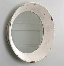Buy Round Distressed Dutch Wall Mirror Country Rustic Farmhouse Bathroom Vanity