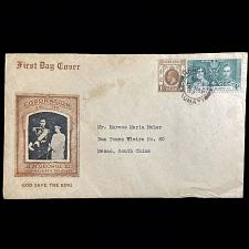 Buy Hong Kong 1937 Coronation king George VI God Save The King Macao South China FDC