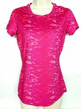 Buy Under Armour Women's Heat Gear Athletic Top XS Fitted Pink Geometric