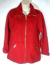 Buy Jones New York Signature Petite Women's Coat Size PP Zip Up Red