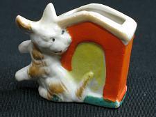 Buy Vintage Dog Match Cigarette Holder Porcelain Figural Ashtray Snuffer Japan left