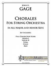 Buy Gage - Chorales for String Ensemble
