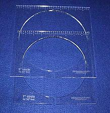 """Buy 2 Piece Inside Circle Set 7"""" & 8"""" W/rulers ~1/4"""" Thick - Long Arm- For 1/2"""" Foot"""
