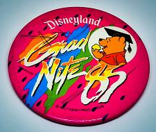 Buy VINTAGE DISNEYLAND OFFICIAL GRAD NIGHT 1985 4 INCH COLLECTIBLE PINBACK BUTTON
