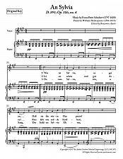 Buy Schubert - An Sylvia for HIgh Voice in A Major