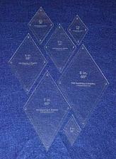 """Buy Diamond Templates 7 Piece Set 2""""-8"""" - Clear 1/8"""" 60 Degree w/ Guideline Holes"""