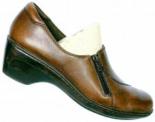 Buy Clarks Women's Brown Leather Side Zip Slip On Loafer Shoes Size 6.5 M