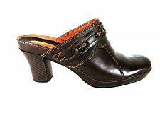 Buy Clarks Artisan Brown Leather Slip On Mule Clogs Heels Shoes Women's 6 M (SW12)