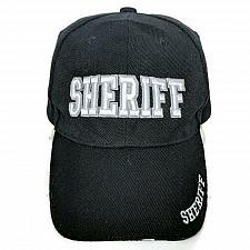Buy Sheriff Mens Law Enforcement Black Strapback Baseball Cap Hat Adjustable