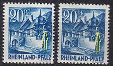 Buy GERMANY Alliiert Franz. Zone [RheinlPfalz] MiNr 0007 yv a,b I ( **/mnh ) [01]
