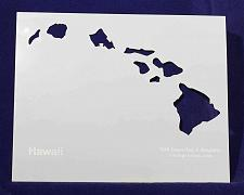 """Buy State of Hawaii Stencil 14 Mil 8"""" X 10"""" Painting /Crafts/ Templates"""