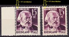 Buy GERMANY Alliiert Franz. Zone [RheinlPfalz] MiNr 0005 vv I,II ( **/mnh ) [01]