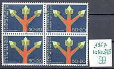 Buy LIECHTENSTEIN [1967] MiNr 0485 ( O/used ) [01] sehr schöner 4er
