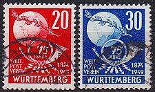 Buy GERMANY Alliiert Franz. Zone [Württemberg] MiNr 0051-52 ( O/used ) [01] Post