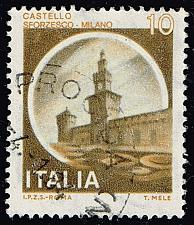 Buy Italy #1409 Sforzesco Castle; Used (3Stars) |ITA1409-07