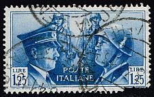 Buy Italy #418 Hitler and Mussolini; Used Spacefiller (9.00) (0Stars) |ITA0418-01