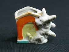 Buy Vintage Dog Match Cigarette Holder Porcelain Figural Ashtray Snuffer Japan