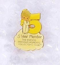 Buy Precious Moments 5 Year Member Enesco Collector's Club Pin