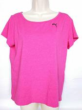 Buy Puma Women's Active Wear T-Shirt Small Pink Solid Short Sleeve