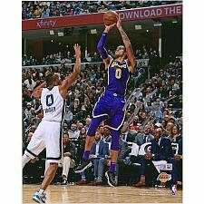 Buy Kyle Kuzma Los Angeles Lakers Signed 8 x 10 Fade Away vs Memphis Grizzlies Photo