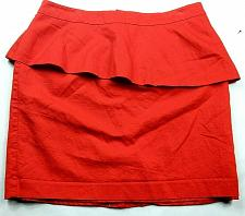 Buy Loft Womens A Line Tiered Skirt Size 12 Solid Red Back Zip Lined