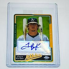 Buy MLB TRAVIS BUCK OAKLAND ATHLETICS AUTOGRAPHED 2005 TOPPS CHROME 1st YEAR RC MNT