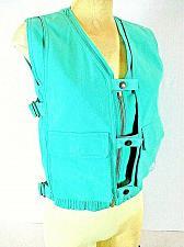 Buy CHEGO SWEATS DD womens Medium green SNAP FRONT zip up vest (P)