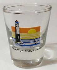 "Buy Hampton Beach New Hampshire Lighthouse Scene 2.25"" Collectible Shot Glass"