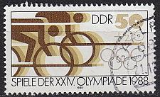 Buy GERMANY DDR [1988] MiNr 3188 ( OO/used ) Olympiade