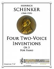 Buy Schenker - Four Two-Voice Inventions op. 5