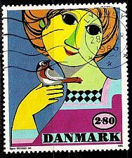 Buy DÄNEMARK DANMARK [1986] MiNr 0855 ( O/used ) Gemälde