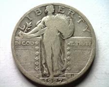 Buy 1927 STANDING LIBERTY QUARTER VERY GOOD /FINE VG/F NICE ORIGINAL COIN BOBS COINS