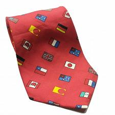 Buy World Flags USA UK Japan Canada Chile Germany Necktie 100% Silk