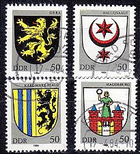 Buy GERMANY DDR [1984] MiNr 2857 ex ( OO/used ) [02] Wappen